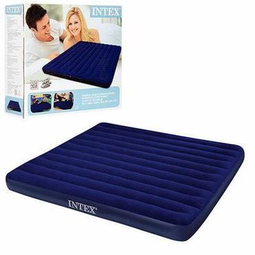 Двуспальные кровати в Кыргызстан: Характеристики матраса Intex 68755: Размеры: 203 cм х 183 см Высота
