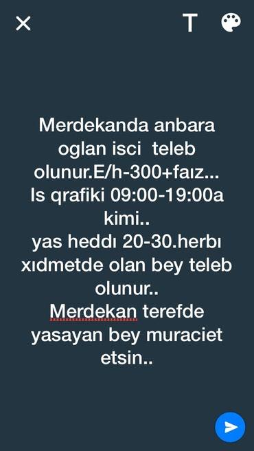Bakı şəhərində Anbardar.. bey teleb olunur...merdekanda yasayan bey muraciet