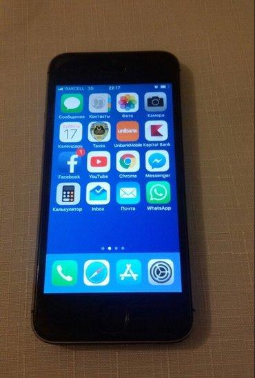 Bakı şəhərində Iphone 5S 16GB satilir.Telefon ideal veziyyetdedir.hec bir problemi