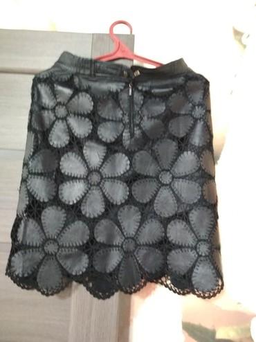 Продается юбка с жилеткой. Натуральная кожа. Жилетка новая. Юбку