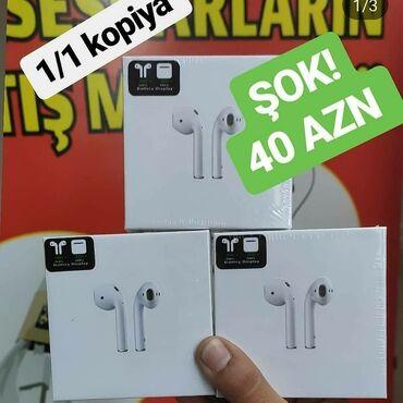 наушники беспроводные в Азербайджан: Ai̇rpods 1 i̇n kopyasi gəldi̇şok endi̇ri̇m 40azn etdi̇k si̇zlər