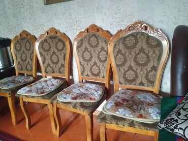 т т к н 2 класс в Кыргызстан: Стол 2.5-1.0 + 7 стулья цена все вместе 35000 сом скатерть и сидушки в