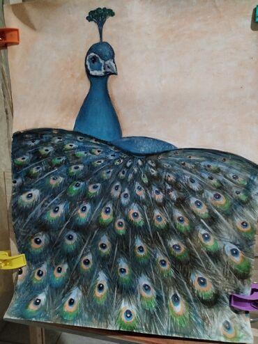 Σπίτι & Κήπος - Ελλαδα: Πωλείται πίνακας σε καμβά θέμα παγωνι διαστάσεις 45Χ 60 χωρίς κορνίζα