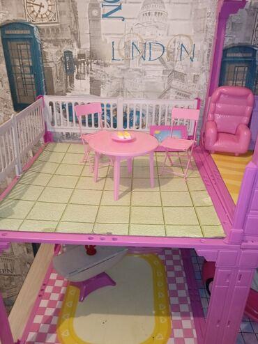 Продается домик для принцессы, двухуровневый в хорошем состоянии
