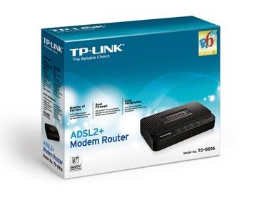 маршрутизаторы gbx в Кыргызстан: Модем+маршрутизатор TP-Link TD-8816 (маршрутизатор+ модем ADSL2+