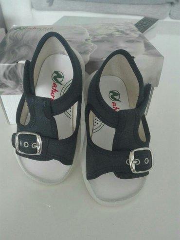 Naturino platnene sandale za dečake,teget boje,broj 21.Nove su,u - Obrenovac
