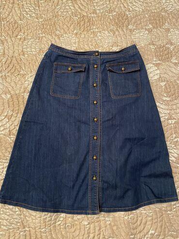 Продаю джинсовую юбку в трапецию в размере М/L