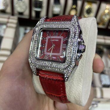 шелковые рубашки женские купить в Кыргызстан: Серебристые Наручные часы Cartier