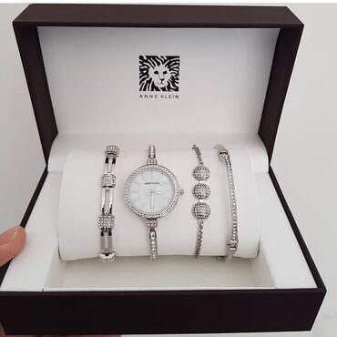 Gümüşü Qadın Qol saatları Anne Klein