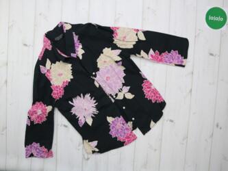 Женская блуза в цветочный принт Principles Petite, р. S-M    Длина: 54