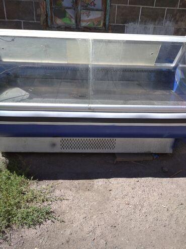 Техника для кухни - Кок-Ой: Б/у Холодильник-витрина Синий холодильник