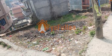 Small plot having land area 0-3-2-0 of 12 feet pitched road, facing in Kathmandu