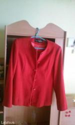 Crveni sako potpuno nov,velicina 44 - Vrnjacka Banja