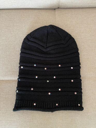 Зимняя шапка (турецкая) с камнями Swarovski в хорошем состоянии