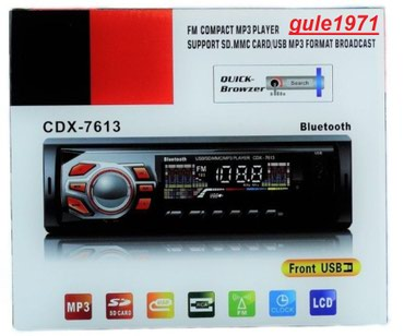 AutoRadio Stereo Bluetooth, FM MP3 Slot USB SD AUX - Model: CDX 4009 - Nis