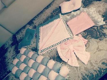набор-для-новорожденного в Кыргызстан: Продам крутой комплект ручной работы из 6 предметов, для
