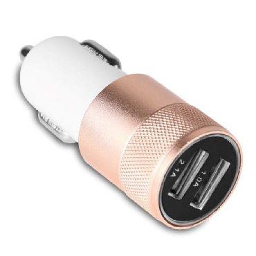 avtomobil elektrik - Azərbaycan: Alüminium Dual USB Avtomobil Şarj Cihazı 2A YENI YENI Android və ipho