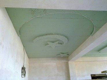 отделочные работы под клют  гипсо-картон всех видов сложности потолки  в Бишкек - фото 7