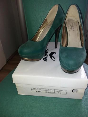 Ženska obuća | Bor: SNIZENJE. POVOLJNO. Samo 350 din. Zenska zelena cipela u