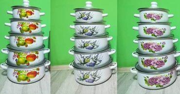 Kuhinjski setovi - Bela Palanka: Set od Pet Emajliranih šerpi Samo 2.399 dinara.Porucite odmah Set od