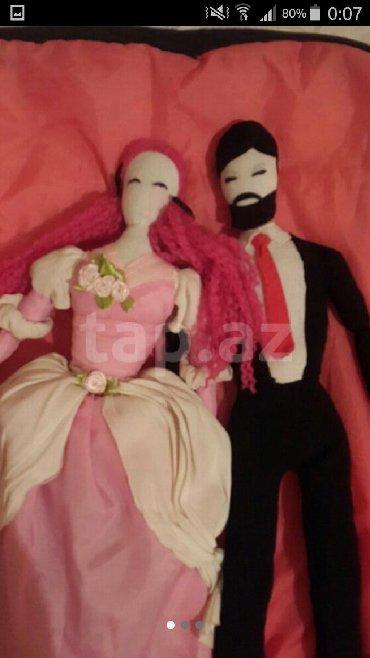 столовая для кукол в Азербайджан: Очень милая пара кукол ручной работы, качественные - декоративные, 50