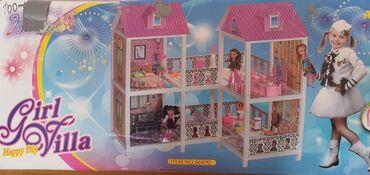 Oyuncaq ev Girl Villa əla vəziyyətdədir. Bütün oyuncaqları yerindədir