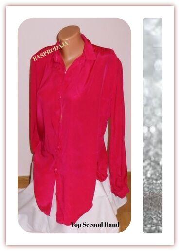 3.5.2. Pink košulja XL-25.9✼Pink svilenkasta košulja. Intezivna
