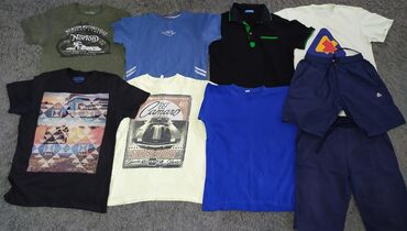 мужские шорты в Кыргызстан: Все за 800 сом. Вещи мужские пакетом. Размер S/М (46-48). 7 футболок +