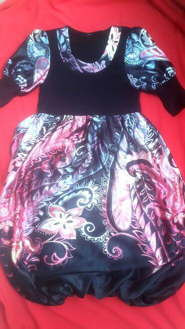"Цена 100 сом, Платье женское б/у, размер 44, фасон низа ""бочонок"""