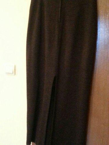 duga suknja od trikotaže, dužina 93 cm, struk 76cm, šlic pozadi 45cm,  - Velika Plana