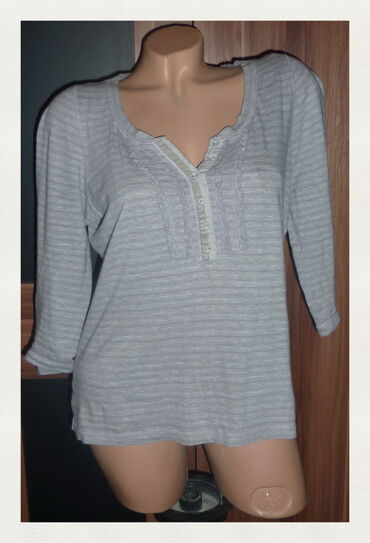 Majica pamucna xl - Srbija: TU PAMUCNA MAJICA NA PRUGE VEL 42ramena 36cmpazuh 50cmdole 52cmrukavi