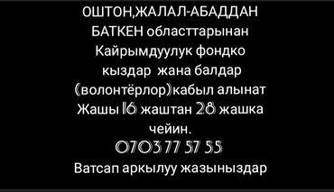 работа в бишкеке кассир в супермаркете в Кыргызстан: Ош шаарынанТез арада Кайрымдуулук фондко иштегени 16-28 жашка