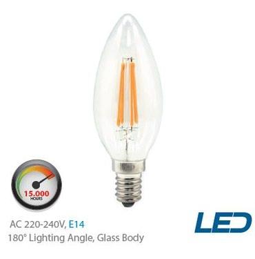C37 Светодиодная Филаментная Лампа  KE49302 4W, 400lm, 3000K - 80 cом в Бишкек