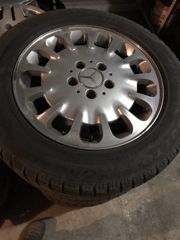 диски на w211 в Кыргызстан: Mercedes Bens w211 R16 разболтовка 5/112 комплект,резина до слабовата