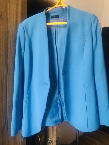 Женская одежда - Милянфан: Жакет 46-48 размера,голубого цвета.Бренд Бенеттон