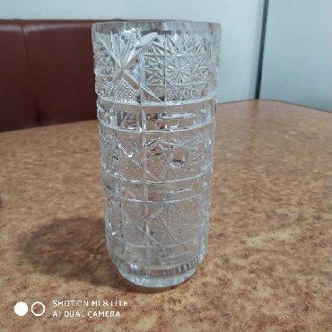 Декор для дома - Лебединовка: Хрустальная ваза. Богемия высота 18см