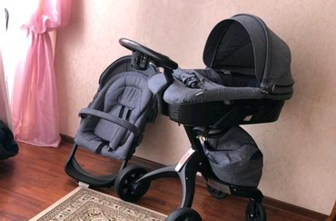 Шикарная б/у фирменная коляска dsland в Каракол