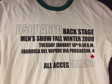 Dsquared vintage Men's βαμβακερό T-shirt , limitted edition No small Α σε Υπόλοιπο Αττικής - εικόνες 2
