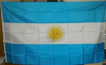 Zastava Argentina, nova, upakovana, dimenzija 150x90cm, sa dva - Beograd