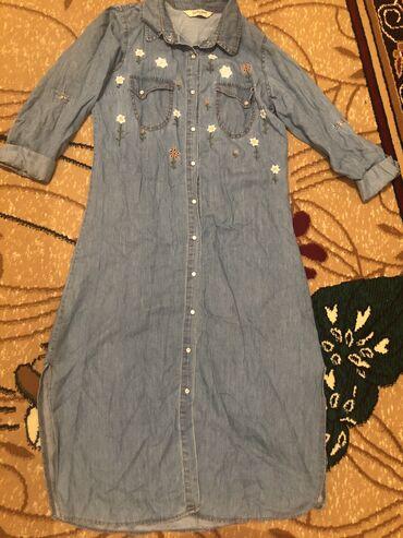 Джинсовое платье Турция,Б/УразмерS, цена 700
