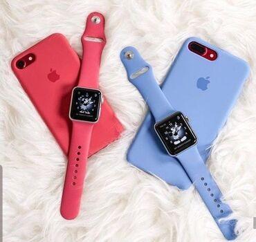 красивые-чехлы-на-телефон в Кыргызстан: Силиконовые чехлы на IPhone и силиконовые ремешки Apple watch навсе