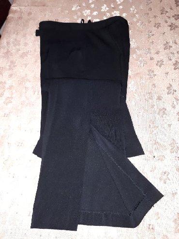 Pantalone struk duzina - Srbija: Zenske pantalone TODOR sa slicevima sa nogavicama, velicina 36, struk