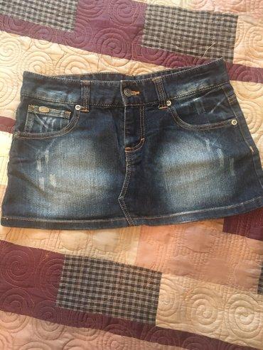 Джинсовая юбка мини , размер 40 ,подойдет кто одевает 38  в Бишкек