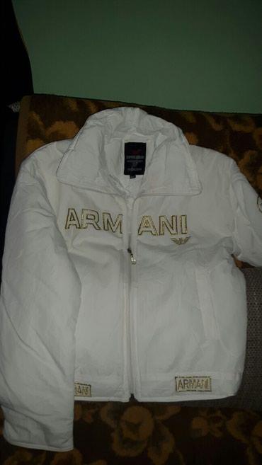 Prelepa bela armani jakna za prelazni period...NOVA...bez etikete XXL - Krusevac