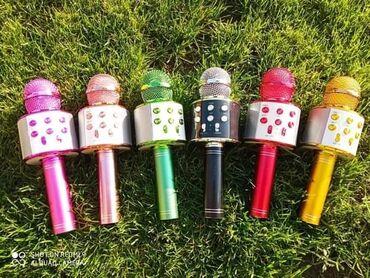 professional mikrofon в Кыргызстан: Zvucnik Karaoke mikrofon Bluetooth Mikrofon za karaoke Zvucnik