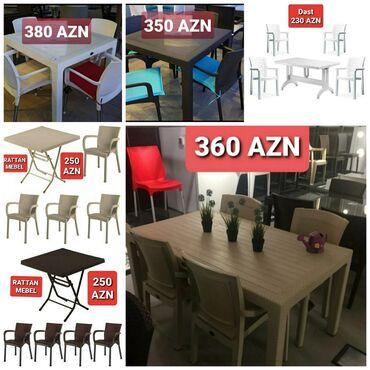 rattan - Azərbaycan: Hər növ plastik stol,stul.Plastik masa.Rattan plastik.Tökmə