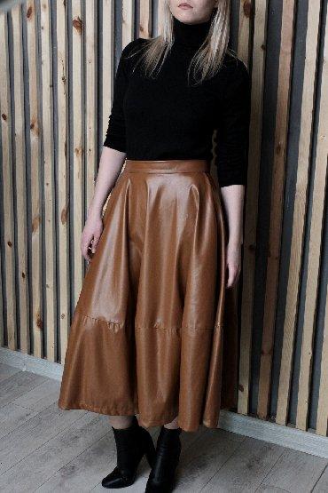 Женская одежда - Чон-Таш: Кожаная юбка ( эко кожа )размер Л