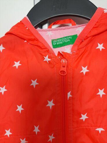 Benetton-decji-duks-xl - Srbija: Benetton vetrovka,tanka jaknica za devojcice,vel 110, 4-5 god