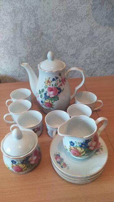 Дом и сад - Бишкек: Кофейный набор. Состоит из 1 чайника, 1 сахарницы, 1 ёмкость для
