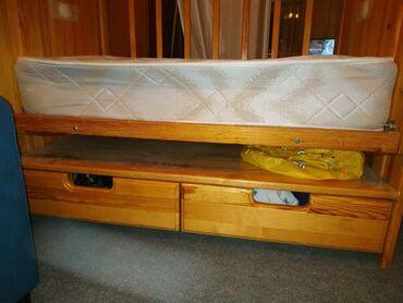 кровать трансформер детская купить в Кыргызстан: Деревянная детская кровать с рождения. Делали на заказ, матрац фирмы
